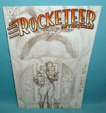 ROCKET GIRL #1 NYCC COMICS WORLD sketch variant by signed by Billy Tucci