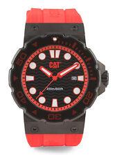 Men's CAT Watch Black & Red Caterpillar Reef Diver's Watch-NWT-RP: $215