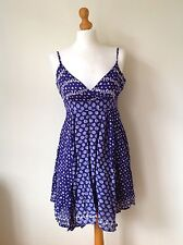 OASIS LADIES BLUE FLORAL TOP SIZE 10