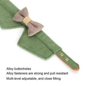 Thickened Green Pet Collar With Large Bow Tie Felt Cat Medium-sized Dog Collar