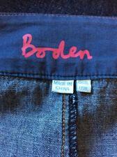 UNWORN Boden Denim Paneled Knee Length 100% Cotton Skirt Size 12L