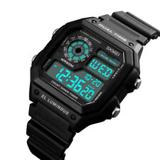 SKMEI Men's Date Sport Quartz Square Military Waterproof Digital Fashion Watch