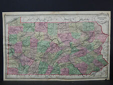 Antique Map, c. 1885 Tunison's, Pennsylvania Z1#67