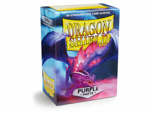 Matte Purple Case Display Dragon Shield Standard Size Sleeves - 10 Packs