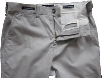 New Mens Marks & Spencer Grey Tapered Chino Trousers Waist 30 Leg 33 DEFECT