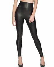NEW SPANX Ready to Wow FAUX LEATHER LEGGINGS PANTS Black # 2437 size M