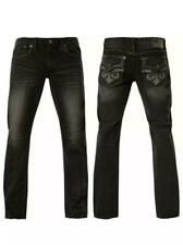 """NEW Affliction Ace Fleur Rhone Wash Slim Straight Jeans 110SS217 Size 40"""" x 34"""""""