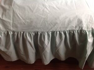 green valance single sheet