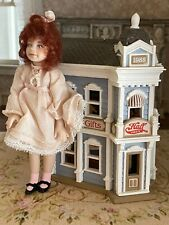 Vintage Miniature Dollhouse Victorian Style Child's Toy Doll House Card Store