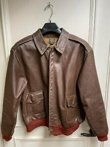 WW2 A-2 Eastman Leather Flight Jacket Reproduction Size 44