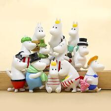 12pcs Moomin Valley Toy Set Snufkin Snorkmaiden Little My Sniff Action Figures