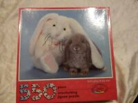 1990 CEACO BUNNY RABBIT JIGSAW PUZZLE LETS PLAY IT BY EAR 550 PCS SEALED