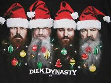 DUCK DYNASTY COMMANDER Holiday T-SHIRT SANTA HAT Large