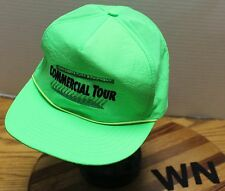 VINTAGE JOHN DEERE TURF EQUIPMENT COMMERCIAL TOUR LIME NEON GREEN HAT GUC WN