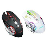 Q13 2.4GHz Wireless 2400DPI Mouse Rechargeable Silent Backlight Game Mouse Kit