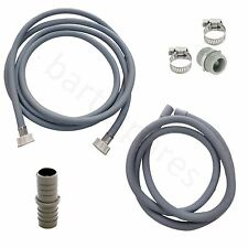 for SAMSUNG Washing Machine Fill Water & Waste Drain Hose Extension Kit 3.5m
