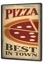 Tin Sign XXL Retro Pizza metal plate plaque