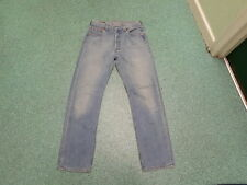 LEVI'S 501 Jeans coupe droite taille 76.2cm jambe 78.7cm décoloré bleu clair