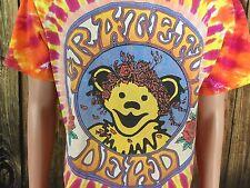 Vintage Grateful Dead 1994 Tie Tye Dyed Dancing Bear Rock T Shirt Large