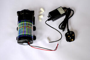 RO Booster Pumps, Power Supply & fittings 50,75,100,200,300,400&800 GPD UK Stock