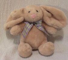 "7"" Anico Int'l Plush Bunny Rabbit Purple & Green Ribbon"