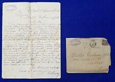 1896 Tunisia - Malta entire Letter + Postman's Handstamp PPH 20 + receiver D
