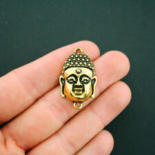 2 Buddha Connector Charms Antique Gold Tone Large Size - GC845