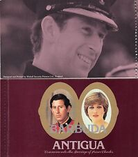 BARBUDA MNH 1982 ROYAL WEDDING COMPLETE BOOKLET SEMI-POSTAL ISSUE