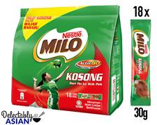 NESTLE MILO Powder KOSONG Chocolate Malt Drink Mix (18 sachets x 30g)