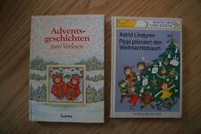 2 Kinderbücher: Astrid Lindgren + Adventsgeschichten zum Vorlesen