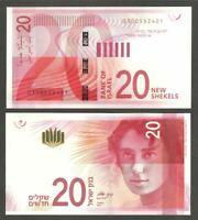 ISRAEL NIS BANKNOTE PAPER MONEY 20 shekel Israeli Sheqel