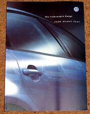 2000 VW RANGE Sales Brochure - Lupo Polo Golf Cabrio Beetle Bora Passat Sharan
