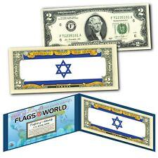 ISRAEL - FLAG SERIES $2 U.S. Bill - Genuine Legal Tender Bank Note Currency