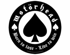 Motorhead Born To Lose Circular BackPatch - New - Licensed Product
