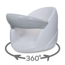 BabyDam Baby Orbital Swivel Bath Seat 5 Months + Infant Support - White/Grey