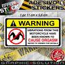 Adhesivo Etiqueta Engomada Pegatinas Advertencia Atención Hot Sexy Orgasm Strip