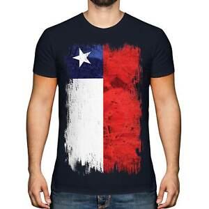 CHILE GRUNGE FLAG MENS T-SHIRT TEE TOP CHILEAN SHIRT FOOTBALL JERSEY GIFT