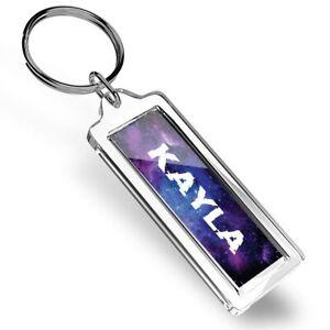 Kayla Name Space Galaxy Keyring   #101641