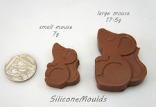 8 cell LARGE Field Mouse Mice 17.5g Chocolate Candy Silicone Bakeware Mould Soap