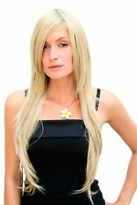 Ladies' Wig Very Long Blond Fawn Layered Smooth Parting 75cm 3110