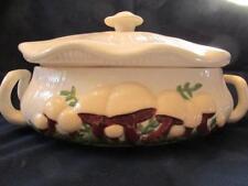 Vintage Arnel's Pottery Mushroom Lg Covered Casserole / Server - 70s Kitchen