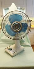 More details for mid century retro vintage industrial 1970's 3 speed table fan oscillating