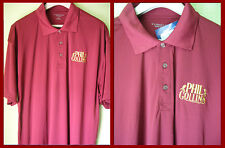 PHIL COLLINS - EMBROIDERED POLO SHIRT (XL)  BNWT