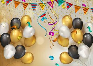Party Event Celebration Balloons Confetti 7x5ft Vinyl Backdrop Photo Background