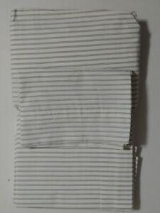 Pottery Barn Teen Dorm Classic Stripe Sheet Set Twin XL Ivory/Faded Navy New