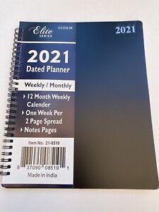 """2021 Weekly/Monthly Planner, Calendar, Agenda, Organizer, 8x10"""" SPIRAL"""