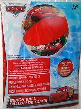 """DISNEY CARS BEACH BALL 20"""" MCQUEEN LUIGI POOL BEACH KIDS FUN RED RACER SPEED"""