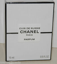 Chanel Cuir De Russie Pure Parfum-.5 fl. oz/15 ml-New in box-Sealed