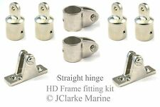 "1"" HD range boat canopy straight hinge frame fittings kit sprayhood binimi 25mm"