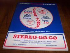 VINTAGE 1976 BICENTENNIAL TUCSON TOROS BASEBALL PROGRAM-OAKLAND A's AFFILIATE